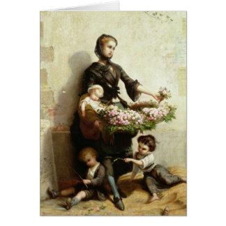 Vendedor de la flor del Victorian Tarjeta De Felicitación