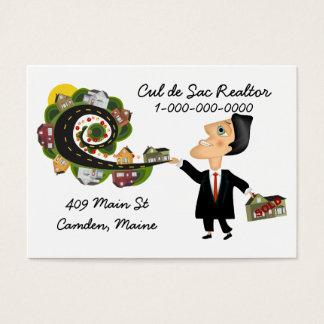 Vendedor del agente inmobiliario tarjeta de negocios