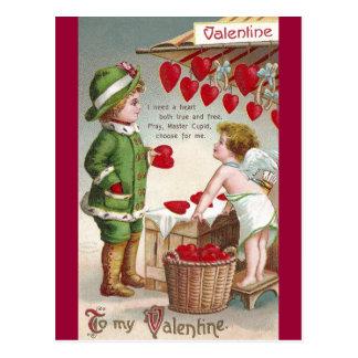 Vendedor del Cupid de la tarjeta del día de San