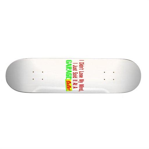Vendió mi mente en la venta de garaje patinetas personalizadas