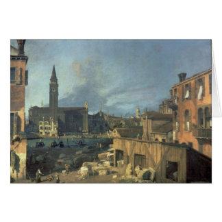 Venecia: Campo San Vidal y Santa María Carita Tarjeta De Felicitación