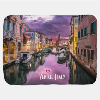 Venecia, canal escénico de Italia y arquitectura Mantita Para Bebé