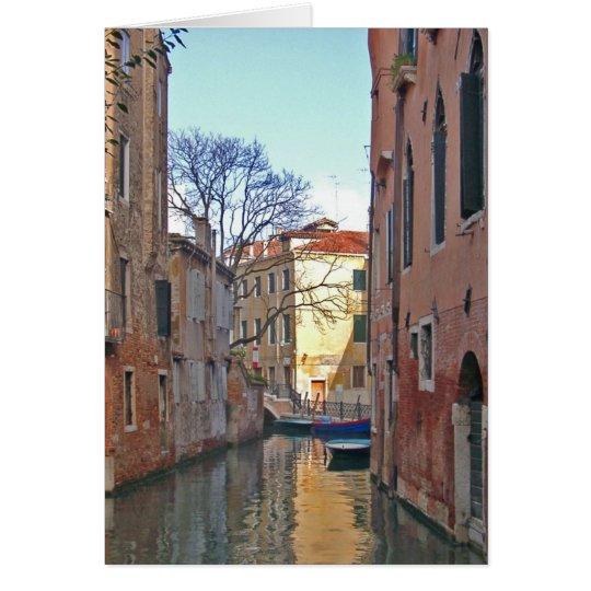 Venecia - canal tarjeta de felicitación