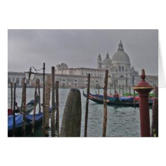 Venecia - góndolas tarjeta