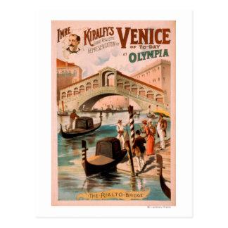 Venecia, novia del mar en las góndolas 2 de postal