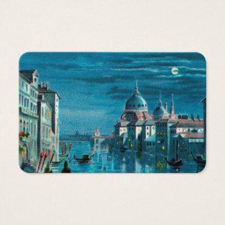 Venecia por claro de luna tarjeta de visita