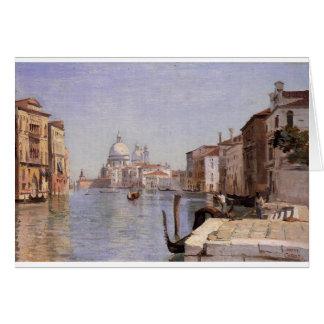 Venecia - vista del della Carita de Campo que Tarjeta De Felicitación