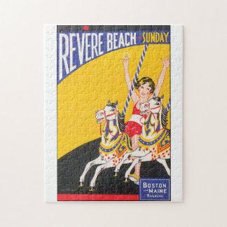 Venere las ilustraciones del poster del viaje del puzzle
