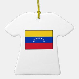 Venezuela - bandera venezolana ornamento de navidad