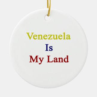 Venezuela es mi tierra ornaments para arbol de navidad