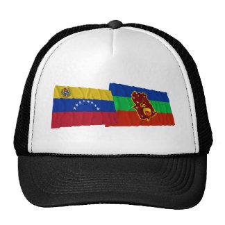 Venezuela y banderas que agitan de Amazonas Gorros Bordados