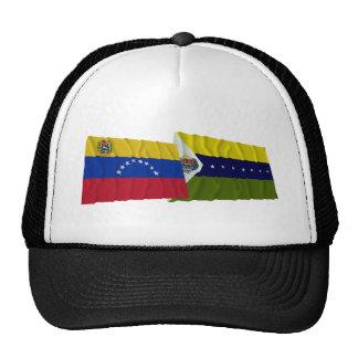 Venezuela y banderas que agitan de Apure Gorros