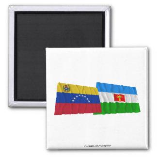 Venezuela y banderas que agitan de Barinas Iman De Frigorífico