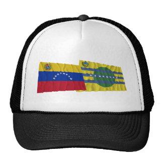 Venezuela y banderas que agitan de Bolívar Gorro De Camionero