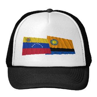 Venezuela y banderas que agitan de Cojedes Gorras