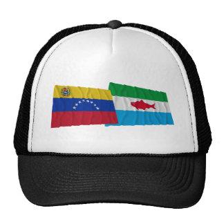 Venezuela y banderas que agitan de Dependencias Gorra