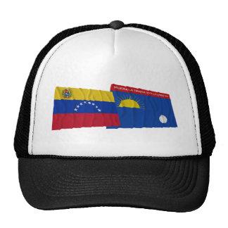 Venezuela y banderas que agitan de Falcón Gorros Bordados