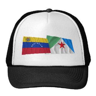 Venezuela y banderas que agitan de Mérida Gorras