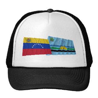 Venezuela y banderas que agitan de Monagas Gorro De Camionero