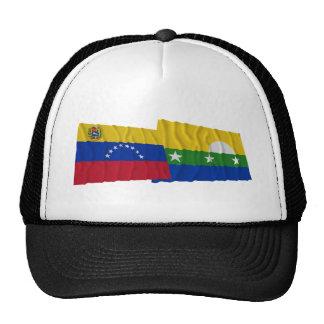 Venezuela y banderas que agitan de Nueva Esparta Gorros