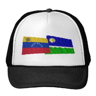 Venezuela y banderas que agitan de Portuguesa Gorra