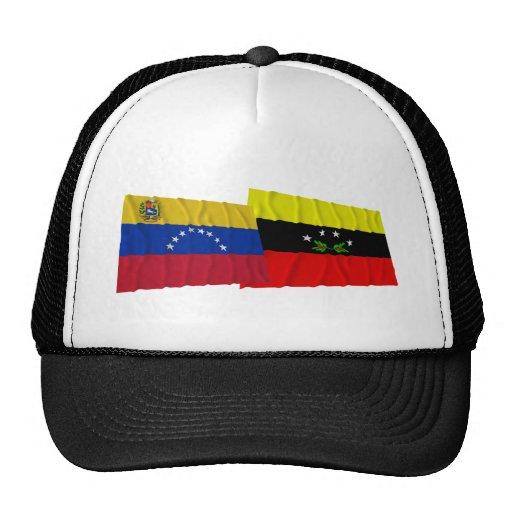Venezuela y banderas que agitan de Táchira Gorro De Camionero
