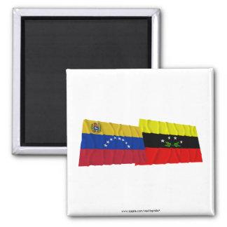 Venezuela y banderas que agitan de Táchira Imanes