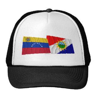 Venezuela y banderas que agitan de Yaracuy Gorros