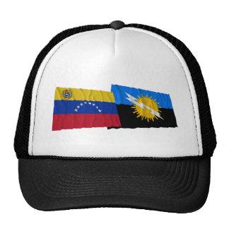 Venezuela y banderas que agitan de Zulia Gorros Bordados