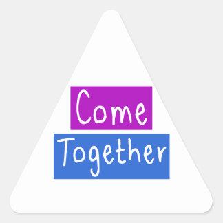 Venga junto pegatina triangular