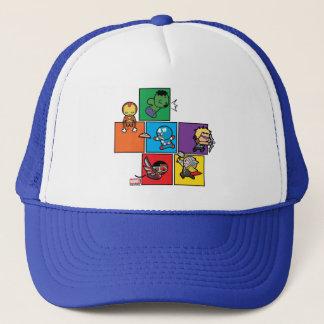 Vengadores de Kawaii en bloques coloridos Gorra De Camionero