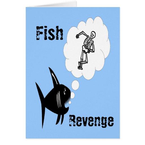 Venganza de los pescados tarjeton