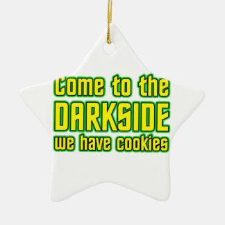 Venido al Darkside tenemos galletas Adorno Navideño De Cerámica En Forma De Estrella