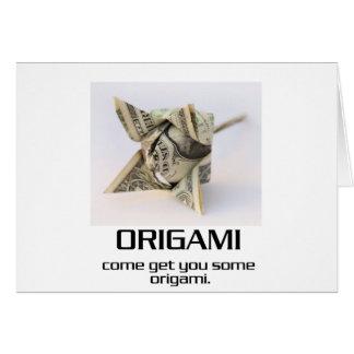 Venido consígale algún Origami Tarjeton