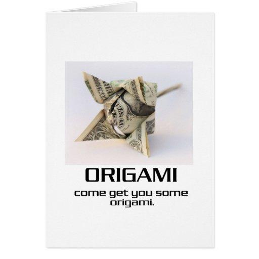 Venido consígale algún Origami Felicitación