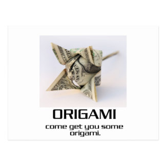 Venido consígale algún Origami Tarjeta Postal
