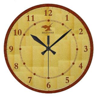Venta adornada moderna de madera roja del reloj de