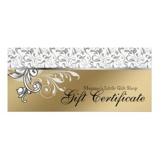 Venta al por menor elegante del certificado del tarjeta publicitaria personalizada