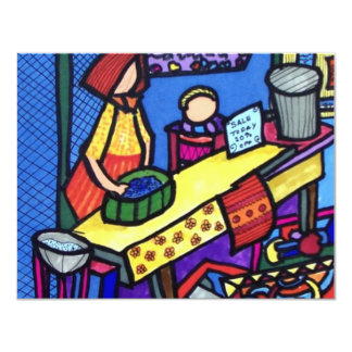 Venta de la iglesia por Piliero Invitación 10,8 X 13,9 Cm