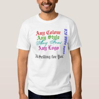 Venta de la promoción Advertisi de las ventas Camisas