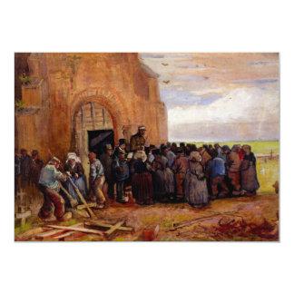 Venta del pedazo del edificio de Vincent van Gogh Invitación 12,7 X 17,8 Cm