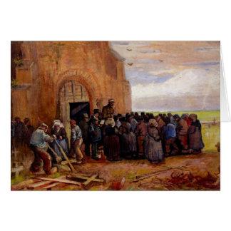 Venta del pedazo del edificio de Vincent van Gogh Tarjeta Pequeña