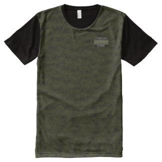 Venta moderna de la camisa del diseñador verdoso camiseta con estampado integral