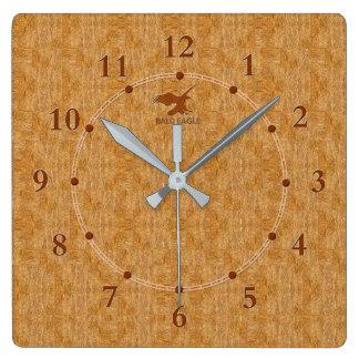 Venta moderna decorativa de madera ligera del reloj cuadrado