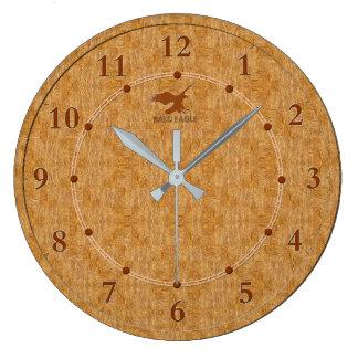Venta moderna decorativa de madera ligera del reloj redondo grande