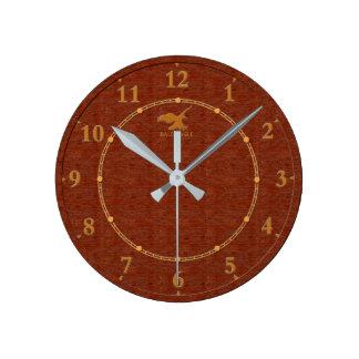 Venta moderna decorativa de madera roja del reloj