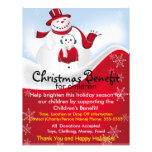 Ventaja de los muñecos de nieve del navidad para e flyer personalizado