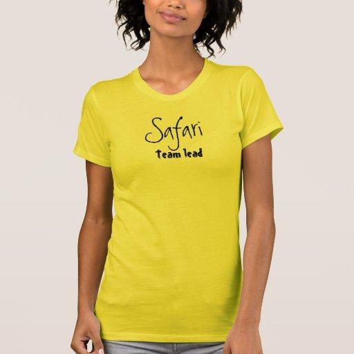 Ventaja del equipo del safari camisetas