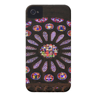 Ventana de la catedral de León, EL Camino, España Carcasa Para iPhone 4 De Case-Mate