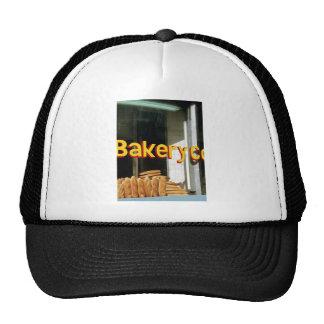 Ventana de la panadería gorras de camionero
